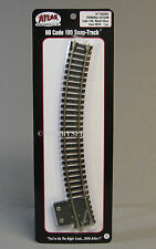 "ATLAS HO CODE 100 18"" RADIUS TERMINAL SECTION  black ties nickel silver rail 845"