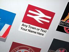 Customised British Rail Station Sign Fridge Magnet / Metal Railway Sign   Gift
