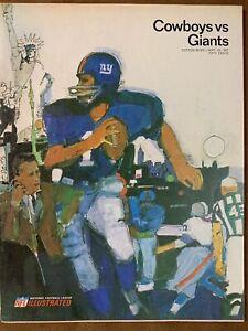 1967 N.Y. Giants vs Dallas Cowboys NFL  football program/LEE ROYJORDAN/ MINT!!
