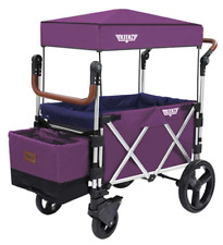 Keenz 7S Twin Baby Double Stroller Wagon Easy Fold w Canopy and Bag Purple New