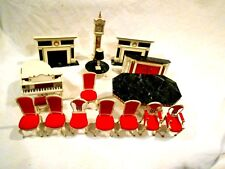 Ideal Petite Princess Doll house Miniature Furniture 17pc Parlor/Dining Room Set
