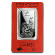 1 oz Silver Bar - PAMP Suisse (Year of the Rooster) - SKU #104122