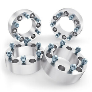 """4pc 2"""" Thick   6x5.5 to 6x5.5 Wheel Spacers   12x1.25 Stud   for Nissan Infiniti"""