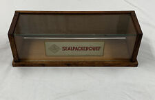 Rare 1909 Sealpackerchief Wood And Glass Display Case Antique Advertising