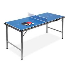 Indoor Tischtennisplatte  Midi (150x67x71) klappbar blau für drinnen & draußen