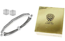 Vince Camuto Silver Tone Friendship Bracelet & Earrings Set in Gift Box $65