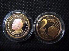 VATICANO euro 2005 MONETA CENT 2 eurocent FONDO a SPECCHIO PROOF FS PP BE