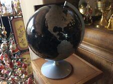 "Replogle Mikado Modern World Globe 12"" Silver On Black"