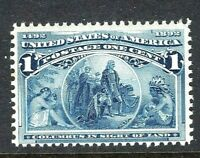 US #230 MNH 1893 Classic 1c 'Columbian Exposition' Stamp...Ships Free!  [S]