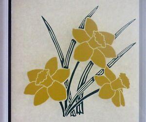 FLOWER,DAFFODIL VINYL STICKER. DECAL FOR PATIO DOOR, WINDOWS, SHOWERS 200 x 200