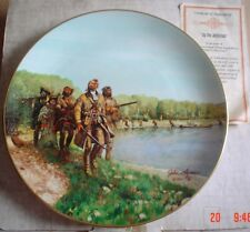 Gorham Fine China Collectors Plate UP THE JEFFERSON - LEWIS AND CLARK EXPEDITION