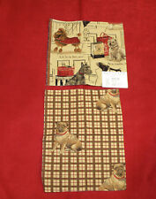 2 Remnant Dog Design Fabrics & Coordinate Suede Upholstery Fabric