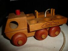 vtg Toy wooden truck  THE MONTGOMERY SCHOOLHOUSE VERMONT smoke eaters