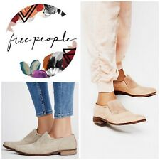 Free People Brady Slip On Loafers Taupe Suede Size 41/10.5 New