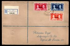 New Zealand Niue - 1937 KGVI Coronation Registered First Day Cover