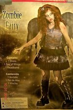 Girls Teen Juniors Zombie Fairy Gothic Halloween Costume Size Medium 9-11- NEW