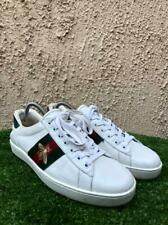 Gucci Ace Bee Embroidered Leather Low Top Sneakers Size US 8