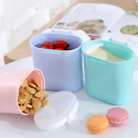 PORTABLE BABY MILK POWDER FORMULA FOOD STORAGE BOX DISPENSER SEALED CONTAINER