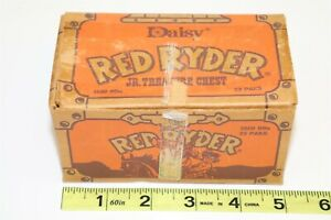 VINTAGE DAISY 1987 RED RYDER JR TREASURE CHEST BOX AND BB'S