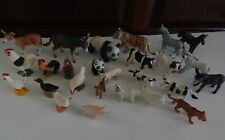 Lot of 25 Schleich Germany And Other Miniature Farm Woodland and Exotic Animals