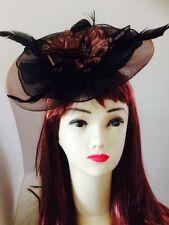 Wedding Horseracing Melbourne Cup Fascinators Headband Hat Cream Coffee