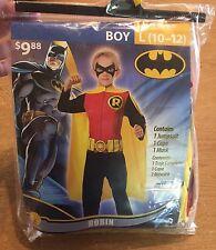 Boy Robin Costume Sz (10-12) USA Halloween Rubies MASK Cape