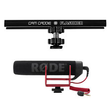 "6"" Camera Bracket + Rode VideoMic GO Microphone for Canon Nikon Sony DSLR"