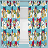 DISNEY JAKE AND THE NEVERLAND PIRATES SHARKS CURTAINS 66 x 72 INCH READY MADE