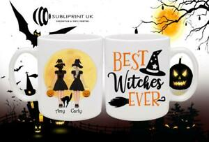 Halloween Friend / Sister / Cousin Personalised Gift Mug - Two Person