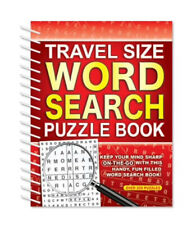 Travel WordSearch Puzzle Book 216 Puzzles Trivia Word Search Puzzles RED