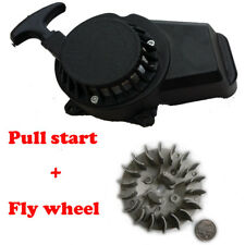 Alloy Pull Start Recoil Starter&Flywheel For 2 STROKE 49cc Pocket Bike mini Quad