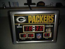 Green Bay Packers Desktop Scoreboard Clock with Alarm