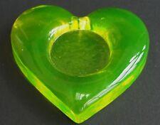 Anna gelbes Uranglas / Vaseline glass  Teelicht Unterlage Dekoration