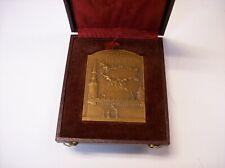 Rare French Bronze La Rochelle Medaille - Conseil Mvnicipal In original case