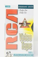 RCA T 120H Blank VHS Video Tapes Up to 6 Hours of Play New and Sealed Quantity 2