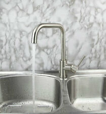 RE Kitchen Swivel Nickel Deck Mount Sink Faucet Single Handle Basin Mixer Taps