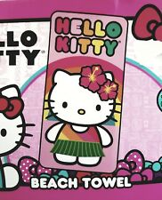 "Hello Kitty Hawaiian Beach Bath Towel 100% Cotton 28"" X 58"""