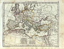 mappa Mondo Romano Europa Asia Minore Mediterraneo Africa Herisson 1809
