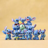 12 PCS Lilo & Stitch Action Figures Collection Set Kids Toy Gifts 3.5cm Lovely