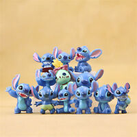 Lilo And Stitch Angel Family Girlfriend Cartoon 12 PCS Action Figure Gift Toy