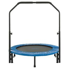Upper Bounce 40in Mini Foldable Rebounder Fitness Trampoline Adjustable Handrail