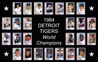 1984 DETROIT TIGERS World Series POSTER Wall Art Man Cave Decor Fan Xmas Gift