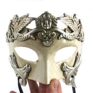 Argent Grec Guerrier Romain Égyptien Style Masquerade Mask Fête Masque Pour Men