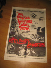 EYES WITHOUT A FACE/MANSTER Original 1sh Movie Poster