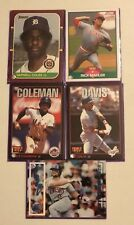 Major League Baseball Cards Lot Of 5 Cards & Sleeves From Years Of 1987 To 1996