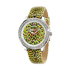 Orologio JUST CAVALLI mod.LEOPARD ref. R7251586503 Donna pelle verde maculato