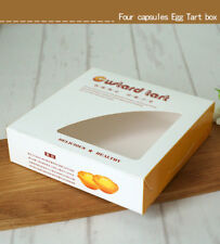 Yellow+White Bakery Boxes w/ Window+Inserts | for Egg Tarts Party Gift |12  cts
