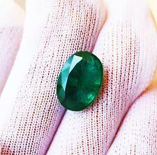 7.34 Fine Natural Emerald Oval Zambia UnTreated Loose GemStone