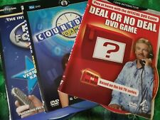 Dvd Games X 3 discs and inlays only