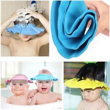 1 x Safe Shampoo Shower Bath Protection Soft Caps Baby Hats For Kids 1-4 years